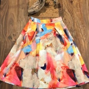 H&M watercolor skirt